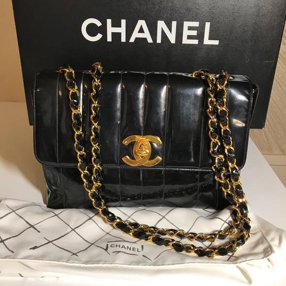 CHANEL Handbags - Chanel Patent Leather Jumbo Flap handbag